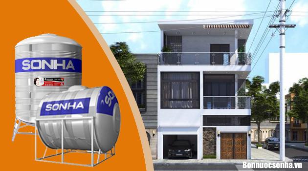 Bồn nước Sơn Hà 1000L sự lựa chon cho nhà 3 tầng